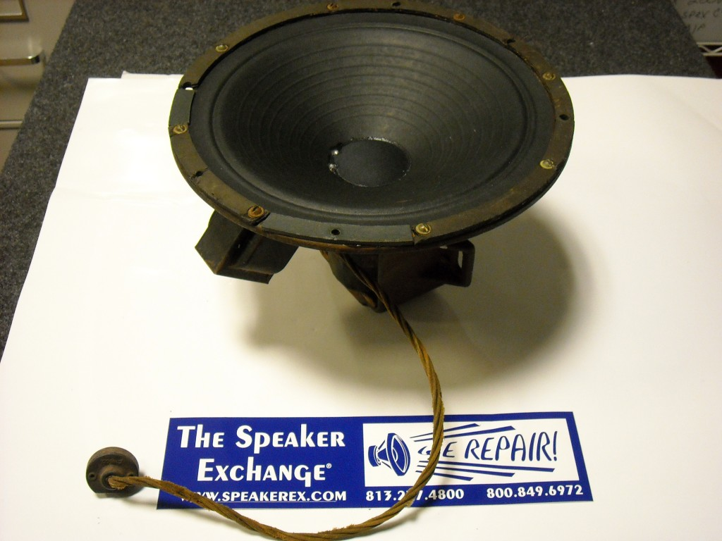 speaker with field coil, field coil magnet, vintage speaker, juke box speaker, speaker exchange, speakerex