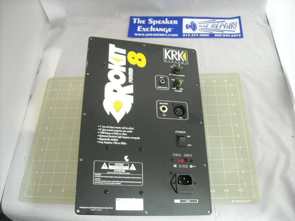 krk ampk00017 rokit 8 amplifier speaker exchange. Black Bedroom Furniture Sets. Home Design Ideas