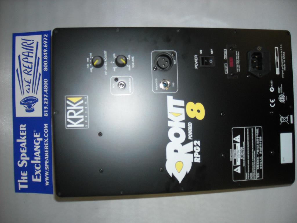 krk rp8g2 rokit 8 g2 amplifier ampk00053 speaker exchange. Black Bedroom Furniture Sets. Home Design Ideas