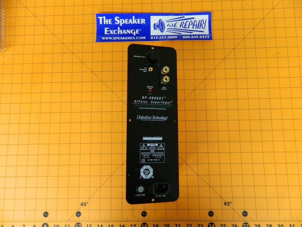 definitive technology bp-8080st amplifier cozz - speaker exchange